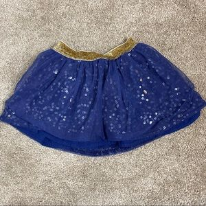 Girls Oshkosh skirt with glitter and sequins